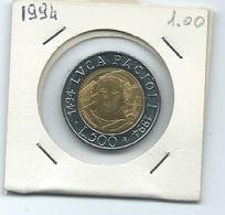 MN109  ITALIA 1994   L.500 Bicolore L. Pacioli - 1946-… : Repubblica