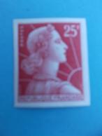 TIMBRE No :1011Cd , MARIANNE De MULLER , NON DENTELE   , XX , En Trés Bon état - 1955- Marianne De Muller
