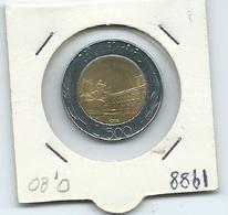 MN110  ITALIA 1988   L.500 Bicolore - 1946-… : Repubblica