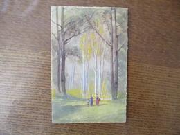 AQUARELLE PAYSAGE DE FORET 1931 - Ansichtskarten