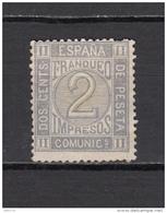1872    EDIFIL  Nº 116   ( * ) - 1872-73 Reino: Amadeo I