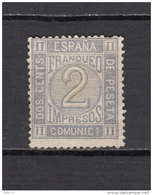 1872    EDIFIL  Nº 116   ( * ) - 1872-73 Koninkrijk: Amadeo I