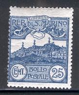 SAN MARINO 1903 25c Mt. Titano Scott Cat. No(s). 53 MH - Unused Stamps