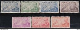 1939 EDIFIL Nº 880 / 886  /**/ - 1931-Aujourd'hui: II. République - ....Juan Carlos I