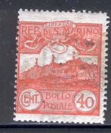 SAN MARINO 1903 40c Mt. Titano Scott Cat. No(s). 59 MH - Unused Stamps