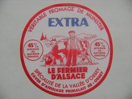 Etiquette Munster - Le Fermier D'Alsace - Fromagerie Primalait à Orbey 68 - Haut-Rhin  A Voir ! - Quesos