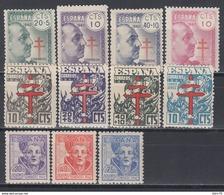 1940 - 1942.   Edifil Nº 936 / 939, 948 / 951, 954 / 956  /**/, - 1931-50 Unused Stamps