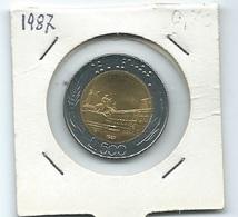 MN112  ITALIA 1987   L.500 Bicolore - 1946-… : Repubblica