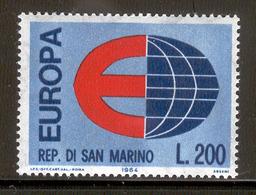 "SAN MARINO 1964 Europe ""E"" And Globe Scott Cat. No(s). 606 MNH - 1964"