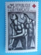 TIMBRE No :1324a  TIMBRE CROIX ROUGE Avec SIGNATURE MACULEE , Illisible En Bas à Gauche , XX , En Trés Bon état - Ungebraucht