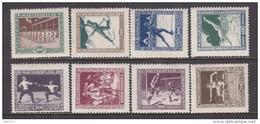 1925    YVERT Nº 371 / 378    / * / - Hungría