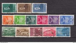 1937 - 1938   YVERT  Nº 484 / 489 , 506 / 508 , 513 / 518 - Hungría