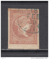 1856    EDIFIL  Nº 48  - Matasellos  Fechador Azul --   CORUÑA - 1850-68 Reino: Isabel II