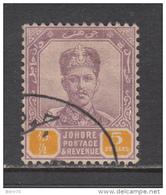 1896 - 1899    SG - Nº 53 ,   YVERT  Nº 35 - Johore