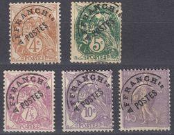 FRANCE - Preobliterati -  Lotto Di 5 Valori Usati: Yvert 40, 41b, 42, 43 E 46. - Preobliterati
