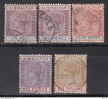 1898   YVERT Nº 33 / 36 - Gibraltar