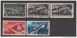 1947  MICHEL  Nº  484 / 487 , 485b - Suisse