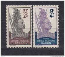 1910   YVERT  Nº  34 , 35   / * / - Gabon (1886-1936)