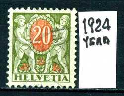 SVIZZERA - HELVETIA - Year 1924 - Viaggiato - Traveled - Voyagè - Gereist. - Segnatasse