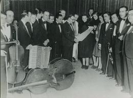 TANGO ORQUESTA EDGARDO DONATO CON BANDONEON, FUELLE. ARGENTINA CIRCA 1910's FOTO PHOTO - LILHU - Personalidades Famosas