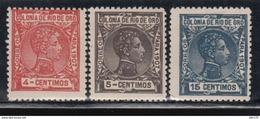 1907 EDIFIL Nº 21, 22, 24,   /*/, - Rio De Oro