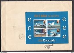 INAUGURAL FLIGHT CONCORDE , BAHRAIN A SCOTLAND , - Bahrain (1965-...)