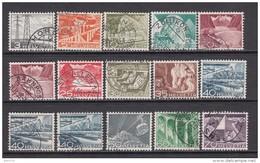1949  MICHEL  Nº  529 / 540 , 533 II , 537b , 537by , - Schweiz