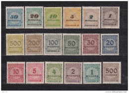 1923   MICHEL  Nº  313 A / 333 A    / ** / - Unused Stamps