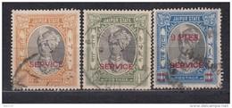 1936 - 1947   SG  Nº  O26 , O28 , O32 - Jaipur
