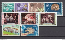 1970   MICHEL  365 / 368 , 369 / 370 , 375 / 377    / ** / - Dubai