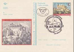 Austria Republik Osterreich POSTKARTE 1991 STORIA POSTALE S 5,00  CASTELLO HOHENWERFEN. - Interi Postali