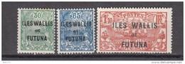 1927 - 1928   YVERT  Nº 40 / 42 - Wallis Y Futuna