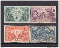 1931     YVERT  Nº 66 / 69 - Wallis And Futuna