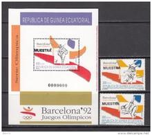 1992  JUEGOS OLÍMPICOS  DE BARCELONA  1992   -- MUESTRA --    / ** / - Guinea Ecuatorial