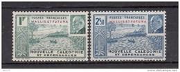 1944   YVERT  Nº 131 / 132   ( * ) - Wallis Y Futuna