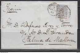 Carta ,  London A Palma De Mallorca , Plate 22 - 1840-1901 (Victoria)