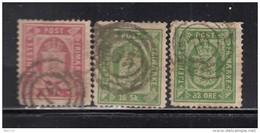1871 - 1902   YVERT  Nº 2 , 3 , 10 - Dienstpost