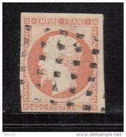 1853    YVERT  Nº 16 ,   -  Oblitérations  Gros Points  - - 1853-1860 Napoléon III