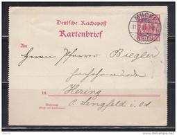KARTENBRIEF - MÜCKE  - LENGFELD  11 - 12 - 1900 - Germany