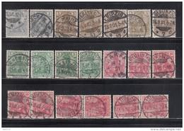 1900   MICHEL  Nº  53 , 54 , 55 , 56 - Alemania