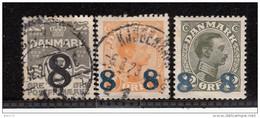 1921 - 1922   YVERT  Nº  127 / 129 - Oblitérés