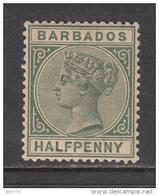 1882 - 1886   YVERT  Nº 39    / * / - Barbados (...-1966)