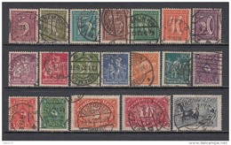 1921   MICHEL  Nº  158 / 176 - Used Stamps