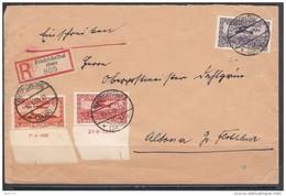1934  CARTA CIRCULADA  , MICHEL  Nº 195 Br , 196 Br , 197 - 1920-35 Sociedad De Naciones