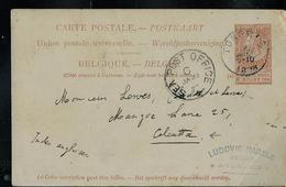 Carte N° 25. Obl. Tongres 13/01/1898  Pour Calcutta (Indes Anglaises) RR Sur Entier - Entiers Postaux