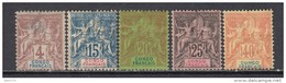 1892  VARIOS  SELLOS   / * / - Congo Francés (1891-1960)
