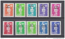 1990 - 1994  IVERT N 523 / 26 , 572 , 587 / 89 , 590 , 605 ,   /  ** / - St.Pedro Y Miquelon