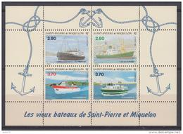 199  HOJITA BLOQUE  YVERT N  4    /  ** / - St.Pedro Y Miquelon