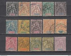 1896 - 1899   YVERT  Nº 28 / 42 - Madagascar (1889-1960)