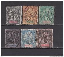 1892 - 1896     YVERT  Nº 3 , 4 , 6 , 7 , 10 - Usati
